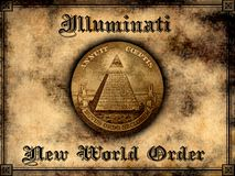 Illuminati New world order. Concept background vector illustration