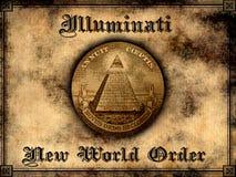 illuminati nowy rozkaz świat ilustracja wektor
