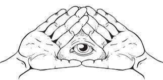 Illuminati Sign - Eye of God. Illuminati, Magic and Occult Sign Royalty Free Stock Photography