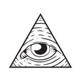 Illuminati Sign - Eye of God. Illuminati, Magic and Occult Sign Stock Photography
