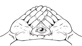 Illuminati Sign - Eye of God. Illuminati, Magic and Occult Sign Royalty Free Stock Image