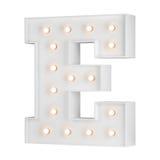 Illuminating E letter Stock Photos