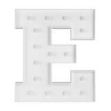 Illuminating E letter Stock Image