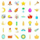 Illuminating icons set, cartoon style. Illuminating icons set. Cartoon style of 36 illuminating vector icons for web isolated on white background Stock Photography