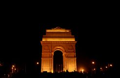 Illuminating india gate. This image is taken at new delhi, india showing illuminating India Gate during republic day celebrations Royalty Free Stock Images