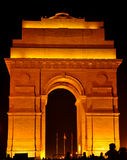 Illuminating india gate Stock Photography