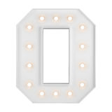 Illuminating O letter Royalty Free Stock Photo