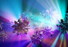 Illumination Arrow Spheres. Arrow spheres color light illumination abstract 3d illustration, horizontal Stock Image