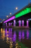 Illumination bridge in Krasnodar Royalty Free Stock Photos
