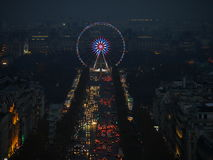 Illumination on Champs-Elysees avenue. Paris, France-November 24,2016:Illumination on Champs-Elysees avenue for Christmas started royalty free stock photo