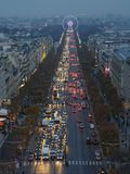 Illumination on Champs-Elysees avenue. Paris, France-November 24,2016:Illumination on Champs-Elysees avenue Royalty Free Stock Photography