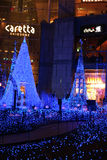 Illumination of the Christmas light at Shiodome, Tokyo, Japan Stock Images