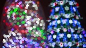 Illumination on Christmas tree stock video footage