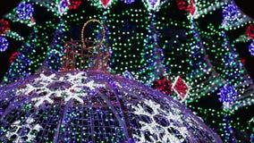 Illumination on Christmas tree stock video