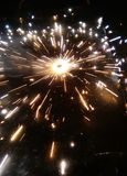 Illumination. Of crackers going to end royalty free stock photo