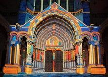 Illumination de Chartres Image stock