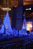 Illumination de la lumière de Noël chez Shiodome, Tokyo, Japon Images stock