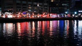 Illumination de lumière de nuit de marina de Dubaï clips vidéos