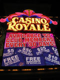 Illumination de nuit de Royale de casino de Las Vegas, Photo libre de droits