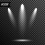 Illumination de projecteur, lumière lumineuse, étape, vecteur de podium transparent illustration de vecteur