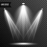 Illumination de projecteur, lumière lumineuse, étape, vecteur de podium transparent illustration libre de droits