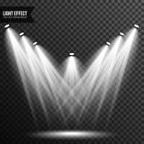 Illumination de projecteur, lumière lumineuse, étape, vecteur de podium transparent illustration stock