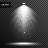 Illumination de projecteur, lumi?re lumineuse, ?tape, vecteur de podium transparent illustration stock
