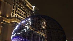 Illumination de vacances de nouvelle année à Moscou, Russie banque de vidéos