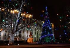 illumination de ville au centre de la ville krasnodar Photographie stock libre de droits
