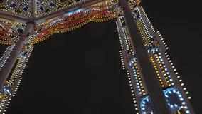 Illumination du ` s de nouvelle année banque de vidéos