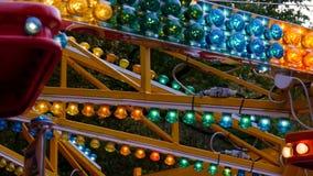 Illumination extérieure, clignotant, la célébration de Noël banque de vidéos