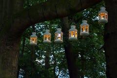 Illumination extérieure de nuit de partie Image stock