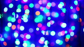 Illumination garland blinking with zoom in and out stock footage