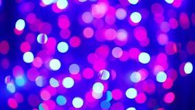 Illumination garland decoration blinking circle bokeh stock footage