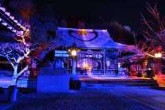 Illumination of Japanese temple, Kyoto Japan. A nighttime event of winter illumination at Arashiyama Kyoto. Japan royalty free stock images