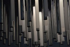 Illumination. Or lamps made out of steel and glass tubes with a very modern design Royalty Free Stock Photo