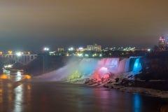 Illumination light of american Falls Niagara Royalty Free Stock Photo
