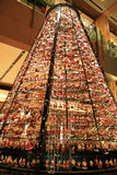 Illumination light decorating on the chirstmas tree in the winter at Roppongi, Tokyo, Japan Stock Photography