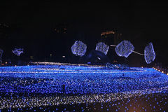 Illumination light showing in the winter at Roppongi, Tokyo, Japan Stock Photos