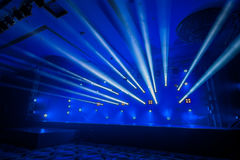 Illumination, light on the stage at the disco Stock Image