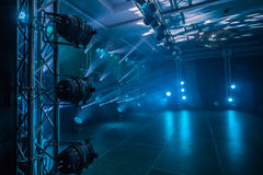 Illumination, light on the stage at the disco Royalty Free Stock Image
