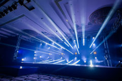 Illumination, light on the stage at the disco. Dancing at the concert,Illumination, light on the stage at the disco Royalty Free Stock Photography