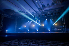Illumination, light on the stage at the disco. Dancing at the concert,Illumination, light on the stage at the disco Royalty Free Stock Image
