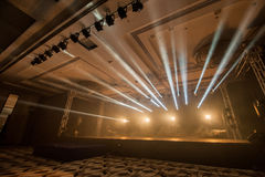 Illumination, light on the stage at the disco. Dancing at the concert,Illumination, light on the stage at the disco Stock Photography