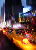 Illumination and night lights of New York City Stock Photos