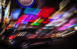 Illumination and night lights of New York City Stock Image