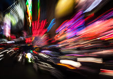 Illumination and night lights of New York City Stock Images