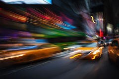 Illumination and night lights of New York City Stock Photo