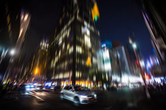 Illumination and night lights of New York City Royalty Free Stock Photography