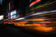 Illumination and night lights of New York City Royalty Free Stock Image
